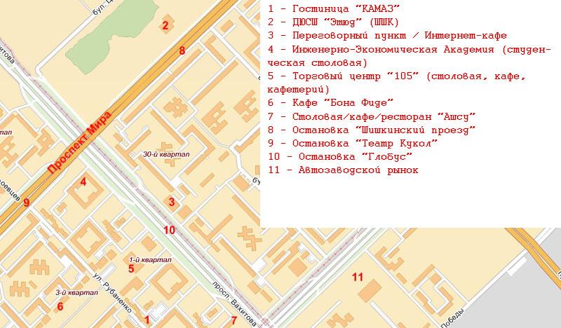Карта расположения гостиницы